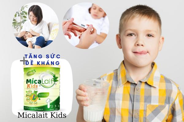 trẻ hay ốm vặt nên uống sữa gì, trẻ hay ốm vặt phải làm sao
